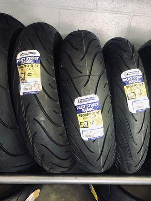 NEW Michelin Pilot Street Motorcycle Tires Tire Honda CBR300 Kawasaki Ninja 250 300 400 Suzuki GSXR250 Yamaha R3 for Sale in Arcadia, CA