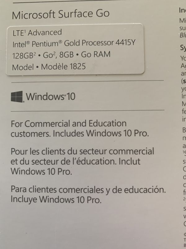 Microsoft Surface Go 128/8 LTE silver (BRAND NEW!!!!)