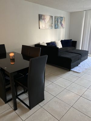 Dinning table 250$! come with 6chairs , couch set 300$! for Sale in Miramar, FL