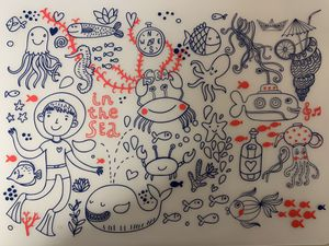 Silicon Table Mat for kids-in the Sea for Sale for sale  New York, NY