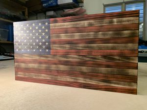 American Wood Flag for Sale in BRUSHY FORK, WV
