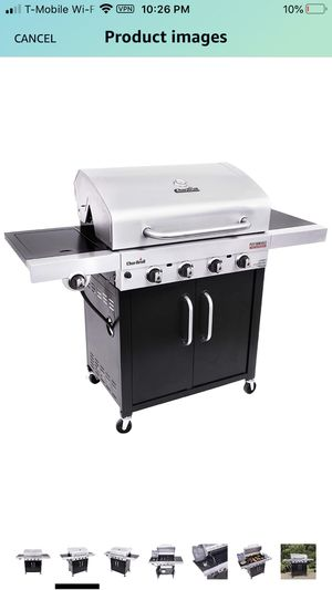 CHAR-BROIL PERFORMANCE TRU-INFRARED 4-BURNER CABINET STYLE GAS GRILL, STAINLESS/BLACK NEW for Sale in Fresno, CA