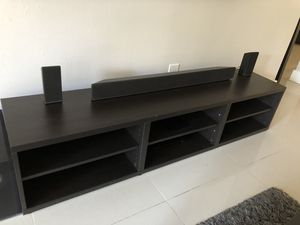 IKEA Besta TV Stand black/brown 70 inches long for Sale in Fort Lauderdale, FL