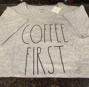 Rae Dunn COFFEE FIRST xl T-shirt for Sale in San Lorenzo, CA