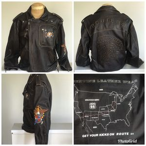 RARE Mens Route 66 Leather Jacket XXL for Sale in Ontario, CA