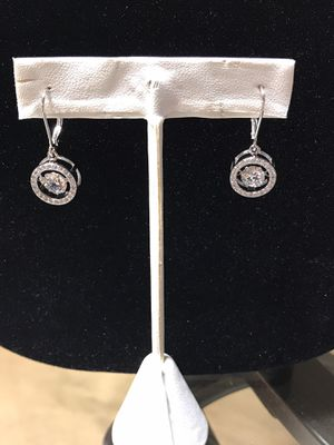 Dancing simulated diamond earrings, pendant, ring for Sale in Denver, CO