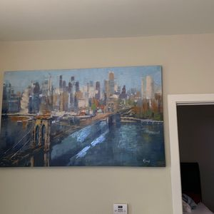36' X 60' Skyline Painting for Sale in Durham, NC