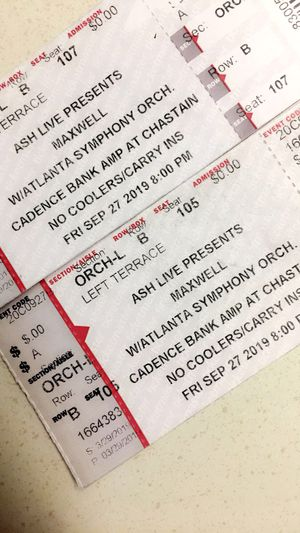Maxwell Concert Tickets for Sale in Stone Mountain, GA