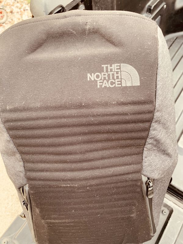 The North Face computer backpack.