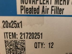 Air filter 20x25x1 for Sale in Las Vegas, NV