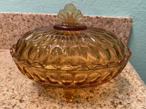 Vintage glass covered dish for Sale in Farmers Branch, TX