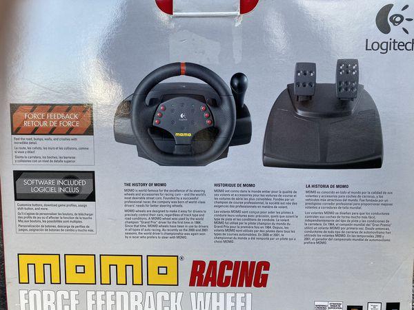 Momo Force Feedback Racing Wheel and Peddals