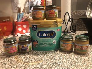 Enfamil Reguline with 6 organic baby food for Sale in Winter Haven, FL
