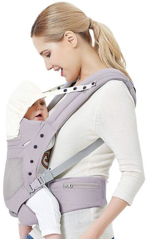 Baby Carrier with Adjustable Hip Seat,Baby Wrap Carrier with Hood, Soft & Breathable Backpack Front and Back for Infants to Toddlers Up to 44 lbs - G for Sale in New York, NY