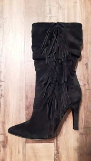 Aldo size 8 suede Fringe boots mid calf for Sale in Bakersfield, CA