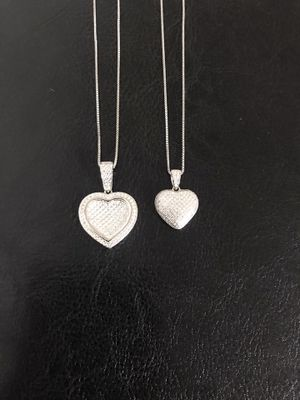 925 sterling silver heart pendant with chain ($25 each) for Sale in Philadelphia, PA