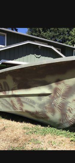 12' Fishing Boat Sportsman Fiberglass for Sale in Brier,  WA