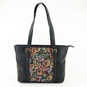 Giani Bernini Pebble Tapestry Medium Handbag Tote – Black for Sale in Norfolk, VA