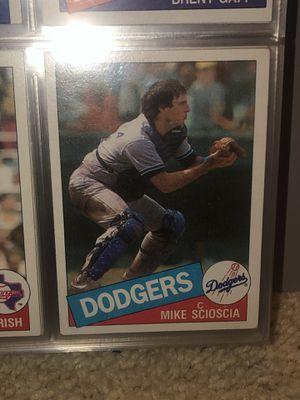 1985 Topps Mike Scioscia baseball card for Sale in San Dimas, CA