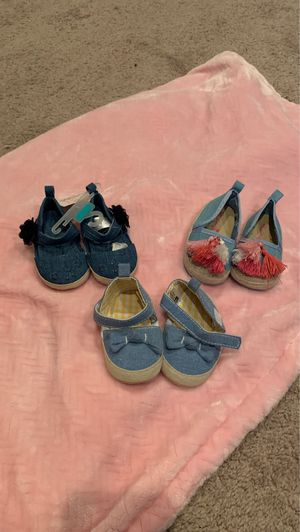 Vans size 2..(10$ each) Denim shoes (new) size 0-6mos (12$ for all the denim) for Sale in Memphis, TN