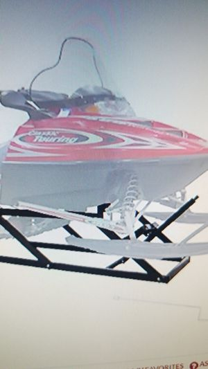 Black ice snow snowmobile lift stand for Sale in Las Vegas, NV