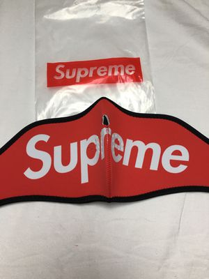 Red neoprene Supreme face mask for Sale in Malden, MA