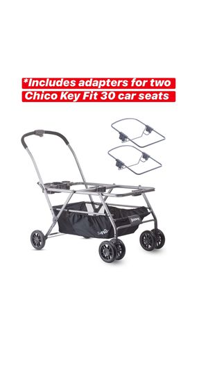 JOOVY Twin Roo+ Car Seat Stroller with Chicco Adapters Bundle / Twin stroller / chicco infant car seat / double stroller / Twins for Sale in Chula Vista, CA