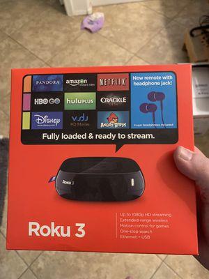 Roku 3 Digital Media Streaming Box for Sale in Gilbert, AZ