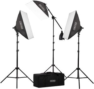 "Fovitec 3 Light 2500W Lighting Kit Photo & Video w 20""x28"" Softboxes for Sale in Modesto, CA"