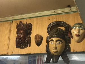 Wooden mask collection for Sale in Bayonne, NJ