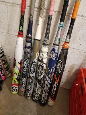Softball baseball bags gloves bats for Sale in Roselle Park, NJ