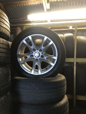 Set 4 rims and tires bmw 2055516 series 3 for Sale in Tampa, FL