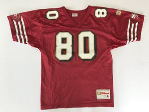 Vintage Jerry Rice San Francisco 49ers Wilson Jersey Youth/Boys Size Large 14-16 for Sale in Weston, MA