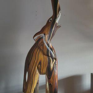 Wood Carved Elephant Figure for Sale in Beachwood, NJ
