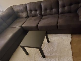 L Shape Sectional Couch - Charcoal/Grey Color for Sale in Kirkland,  WA