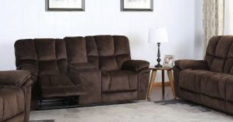 NEW BARCELONA MICROFIBER RECLINING SOFA LOVE SEAT AND CHAIR BROWN OR GRAY ONLY $1499 NO CREDIT CHECK OR ONE YEAR DEFERRED INTEREST FINANCING AVAILA for Sale in Clearwater,  FL