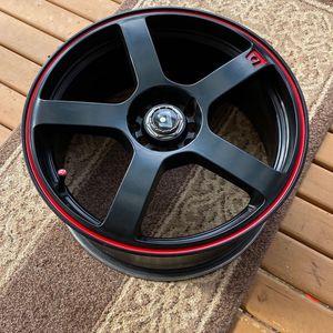 Motegi Racing MR116 Black w/Red Stripe - 18 Inch Rims for Sale in Auburn, WA