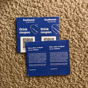 4 Southwest Drink Coupons Exp 11/30/20 (Free) for Sale in Santa Clara, CA