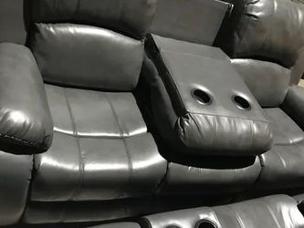 Grey Leather 3 Piece Sofa Set Ready And Available Brand New for Sale in Marietta,  GA