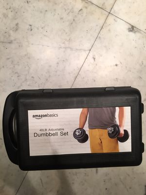 40LB Adjustable Dumbbell Set for Sale in Miami Beach, FL