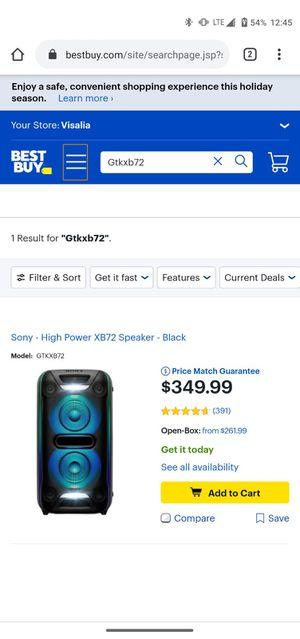 Sony high power XB72 Speaker Black for Sale in Fontana, CA