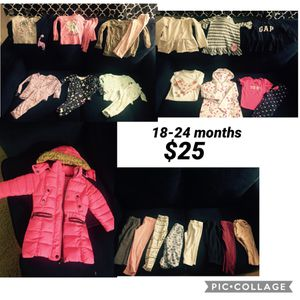 18-24 months toddler girl clothes jacket zip is not working has buttons for Sale in Sayreville, NJ
