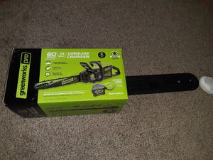 Greenworks Cordless Chainsaw for Sale in Wichita, KS