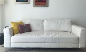 White Sofa - free just pick it up! for Sale in Key Biscayne, FL