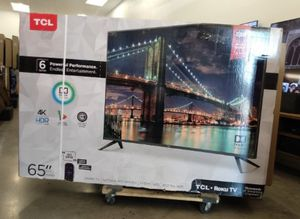 "65"" TCL ROKU TV 4K UHD HDR SMART TV for Sale in Grand Terrace, CA"