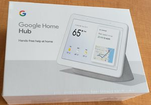 Brand new in the box never opened Google Home Hub a personal home assistant watch YouTube ask questions save your pictures for Sale in Long Beach, CA