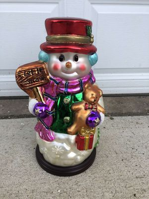 Thomas Pacconi Collectible Glass Snowman for Sale in Mentor, OH