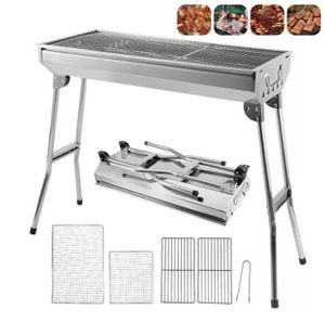 BBQ Grill Outdoor Stainless Steel Charcoal Grill BBQ Tool Portable Free Installation Handle Folding BBQ Cooking Grid Garden for Sale in San Gabriel, CA
