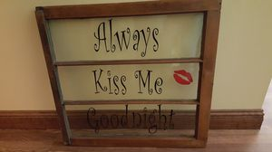 Antique window with vinyl quote for Sale in Holly, MI