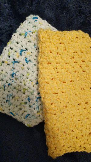 Set of three crocheted baby washcloths for Sale in Alexandria, VA